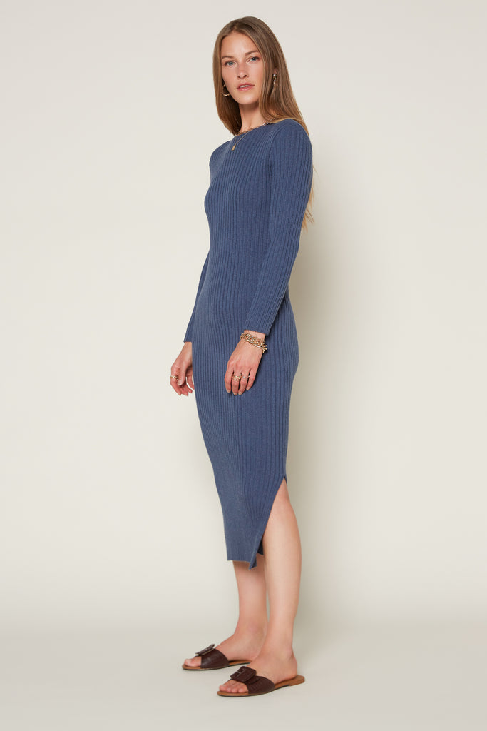Ribbed Midi Sweater Dress