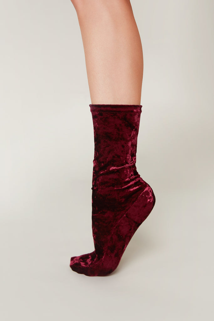 Crushed Velvet Socks