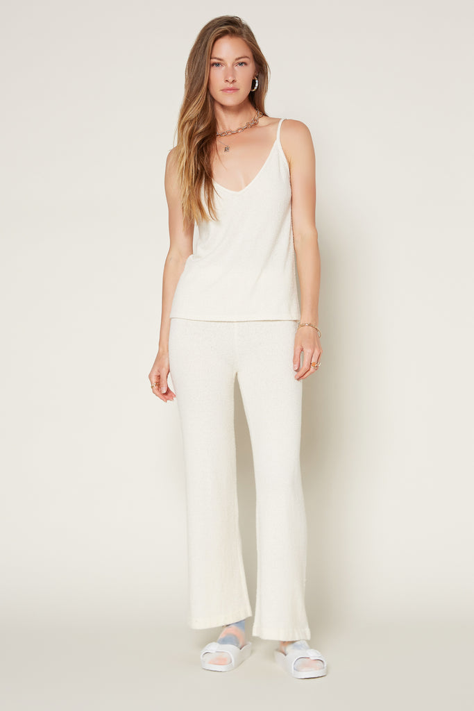 Drawstring Wide Leg Knit Pants