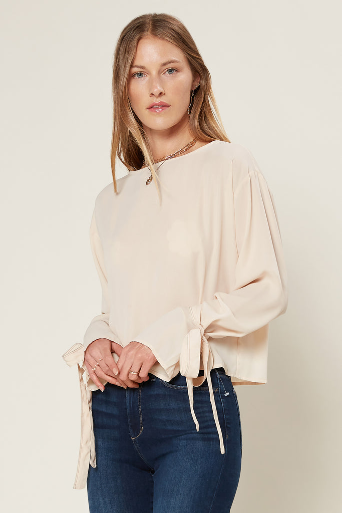 Ribbon Sleeve Detail Blouse