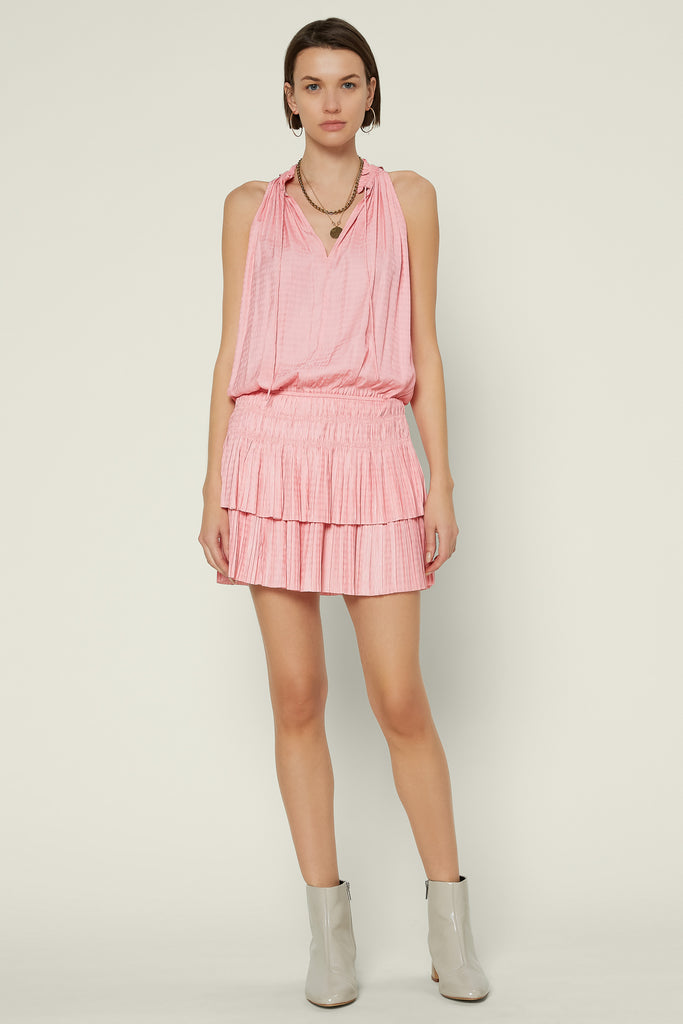 Cara Sleeveless Pleated Mini Dress