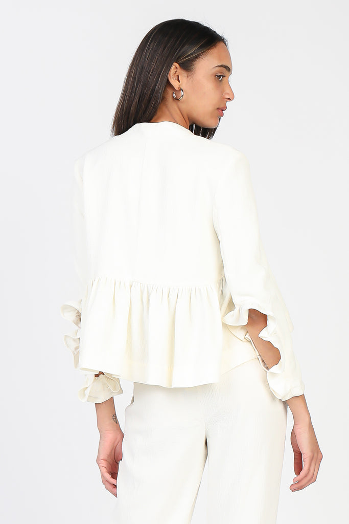 Open Front Ruffled Jacket