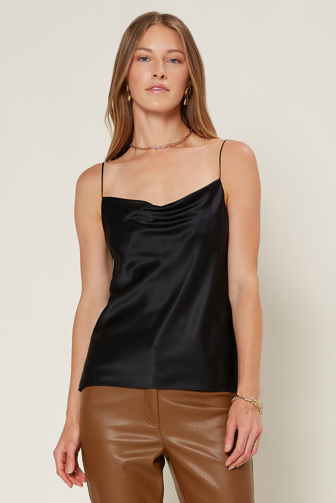 Cowl Neck Silk Cami Top