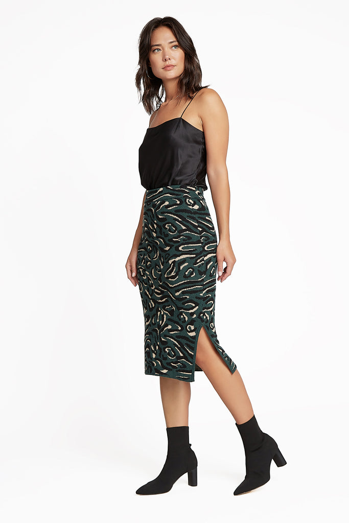 Abstract Animal Print Sweater Skirt