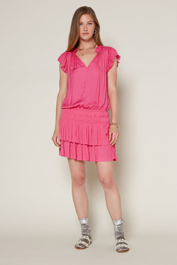 Zoey Pleated Skirt Mini Dress