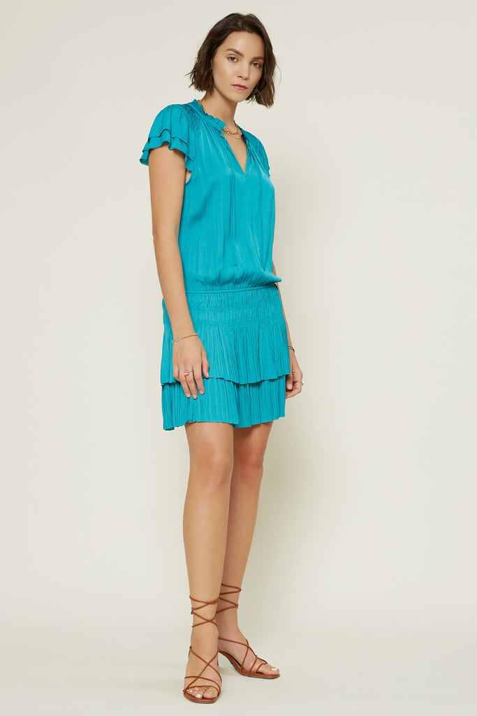 Carly Pleated Mini Dress