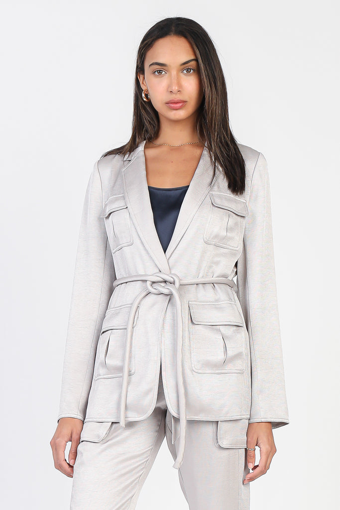 Utility Jacket with Rope Tie Belt