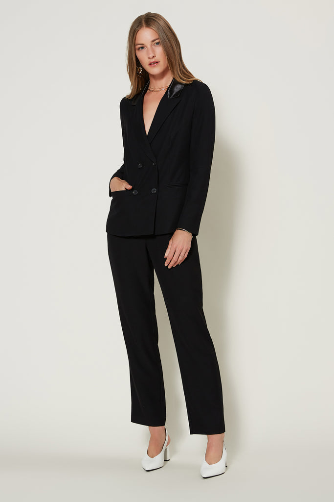 Contrast Satin Pocket Trousers