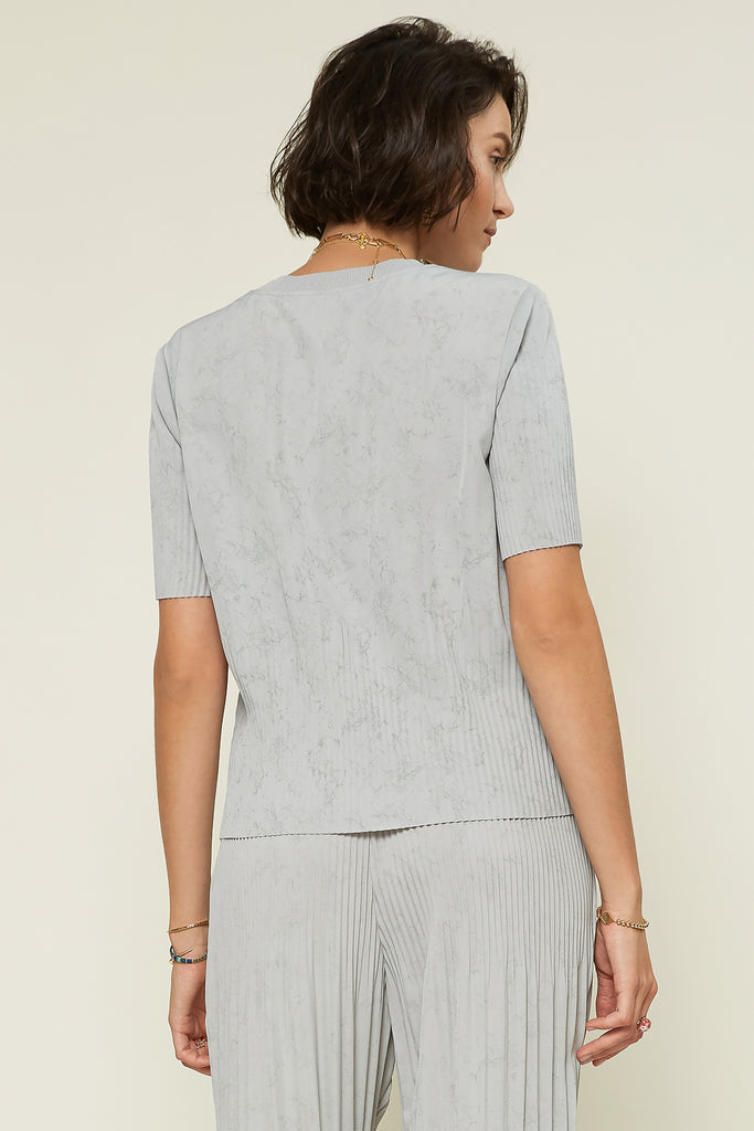 Marble Pleated Top