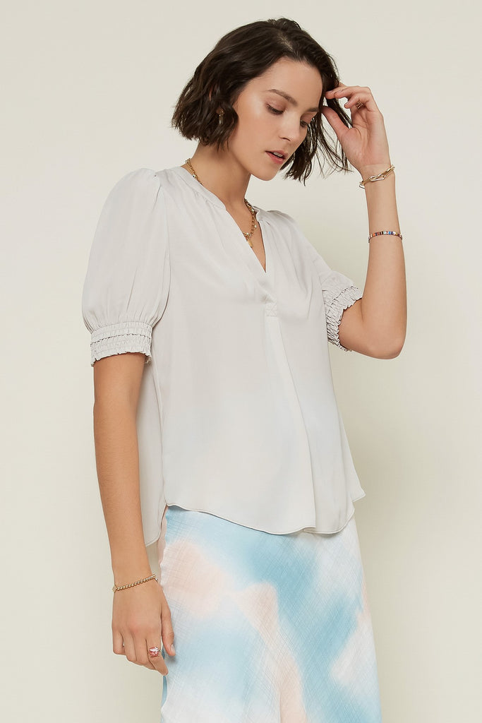 Notched Neck Blouse