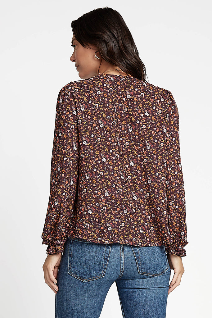 Ditsy Floral Smocked Blouse