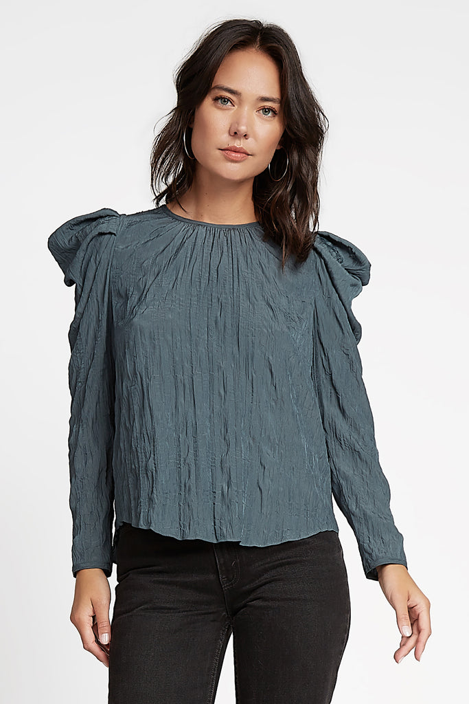 Crinkled Butterfly Long Sleeve Top