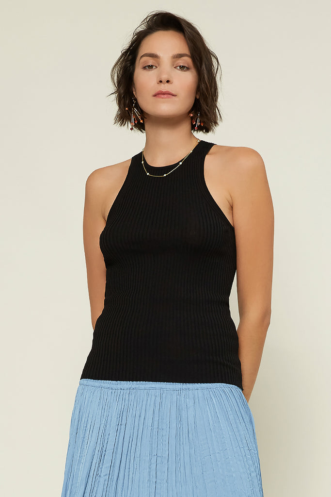 Ribbed Racerback Sweater Top