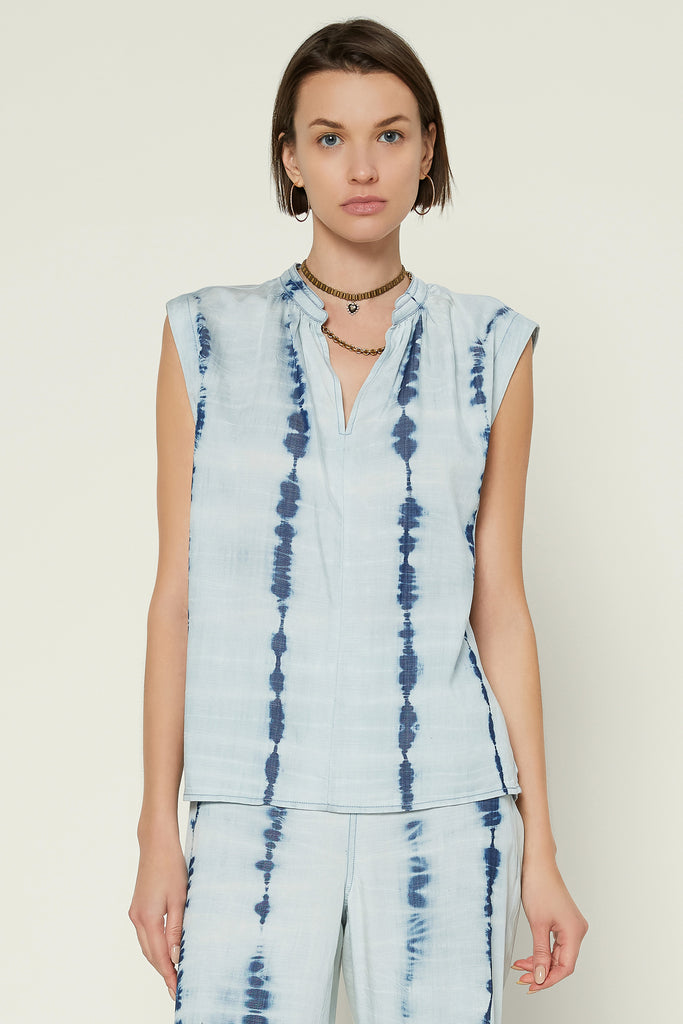Tie Dye Chambray Top