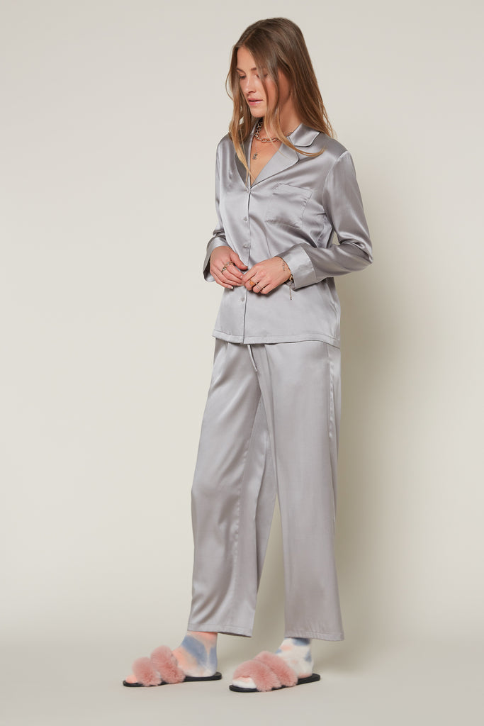 Silk Drawstring Pajama Pants