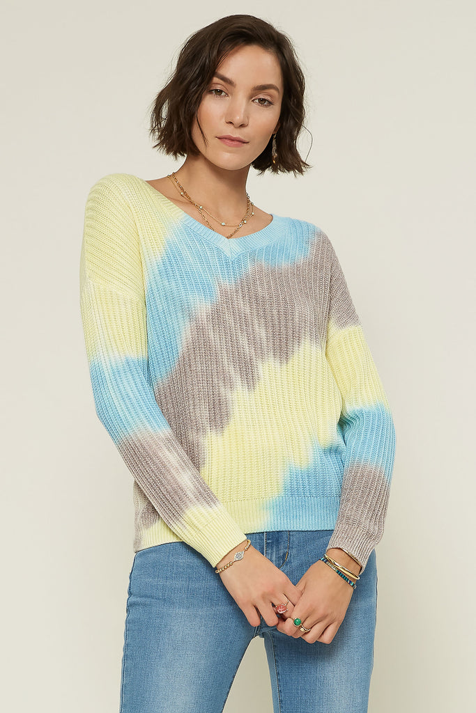 Oblique Tie Dye Sweater