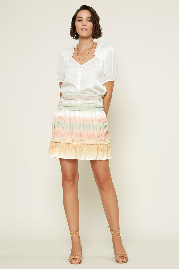 Pastel Ombre Mini Skirt