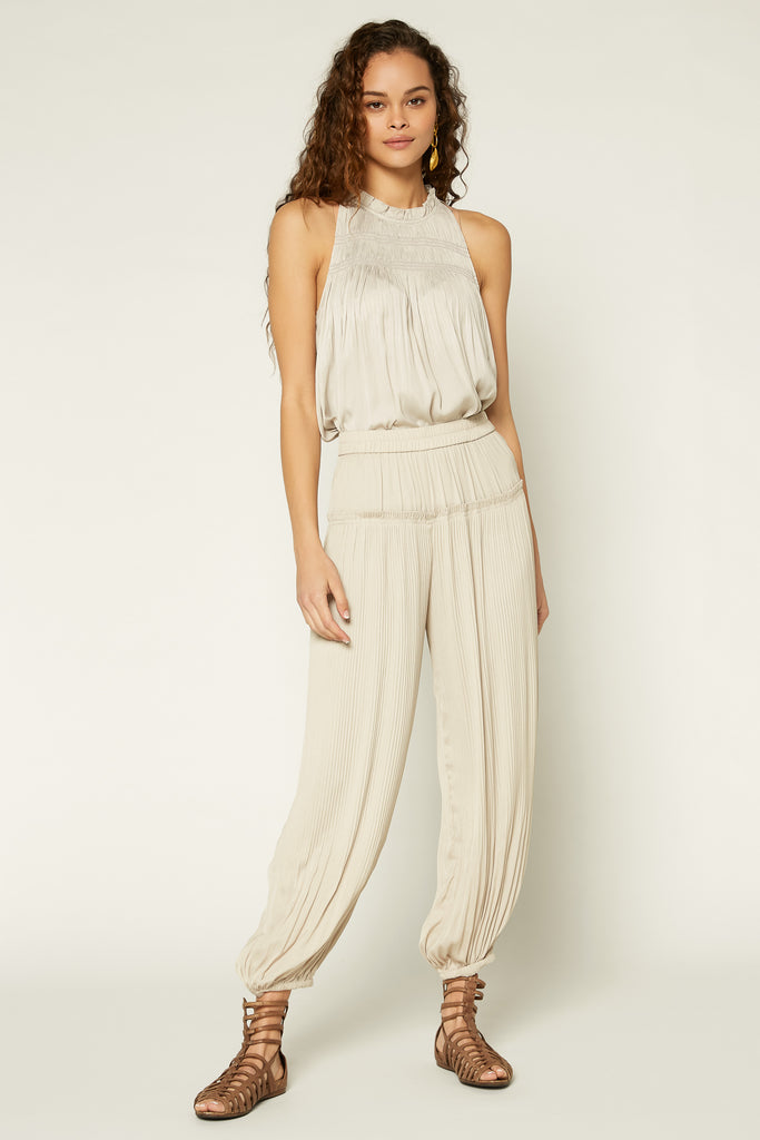 Pleated Pull On Pants