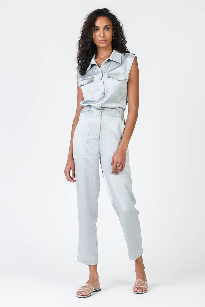 Satin Utility Jumpsuit