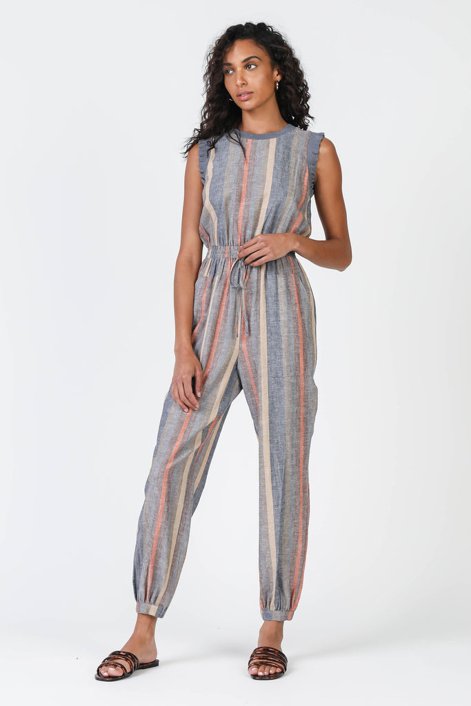 Multi Stripe Jumpsuit