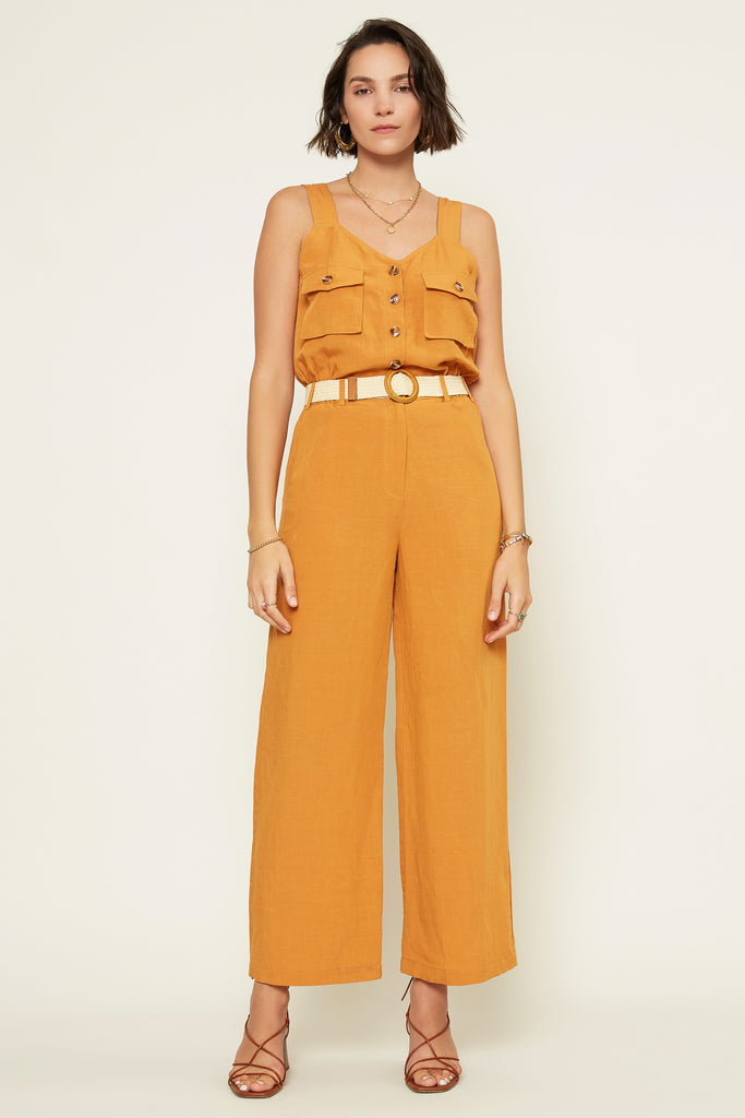Sleeveless Utility Pocket Jumpsuit
