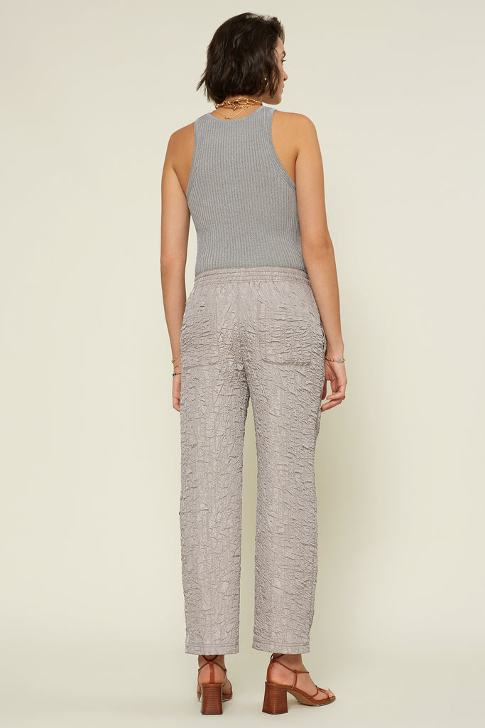 Crinkle Metallic Sheen Resort Pants