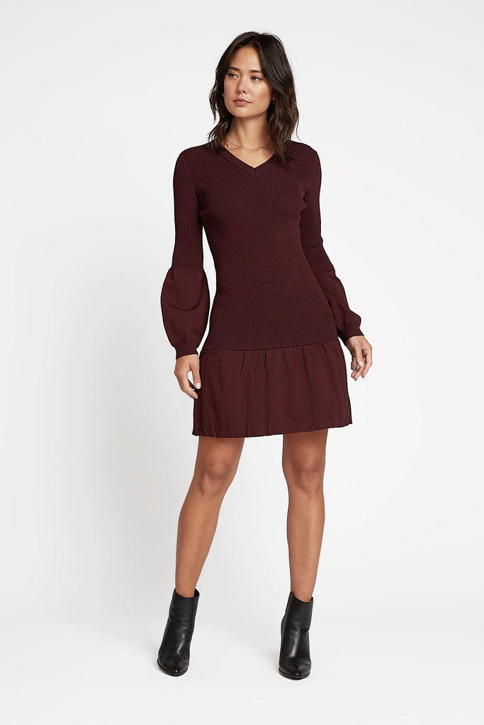 Ribbed Mini Sweater Dress