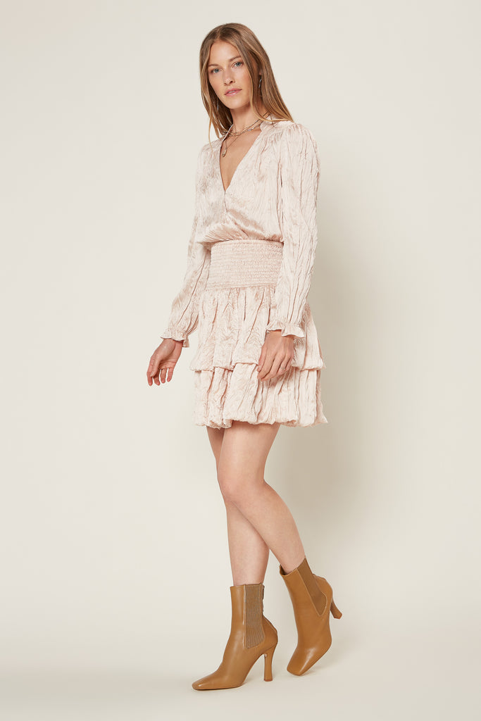 Crinkle Surplice Mini Dress