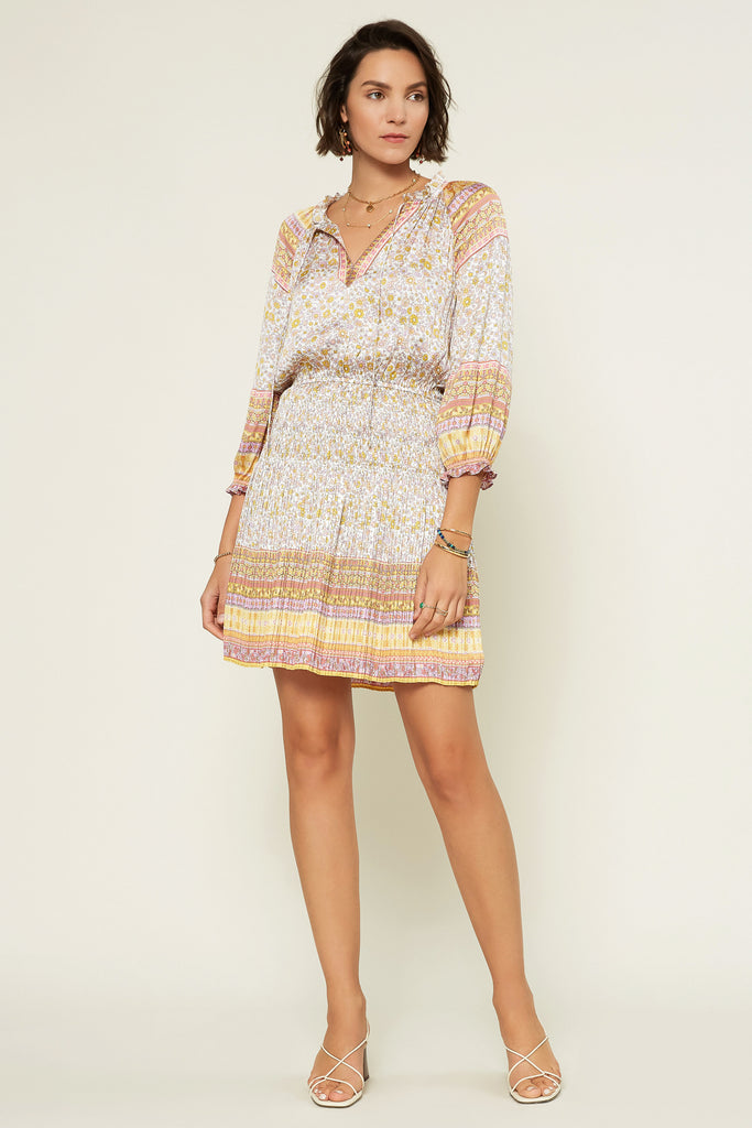 Paisley Border Print Dress