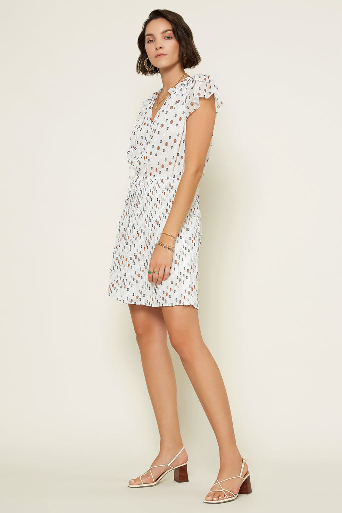 Multi Dot Chiffon Dress