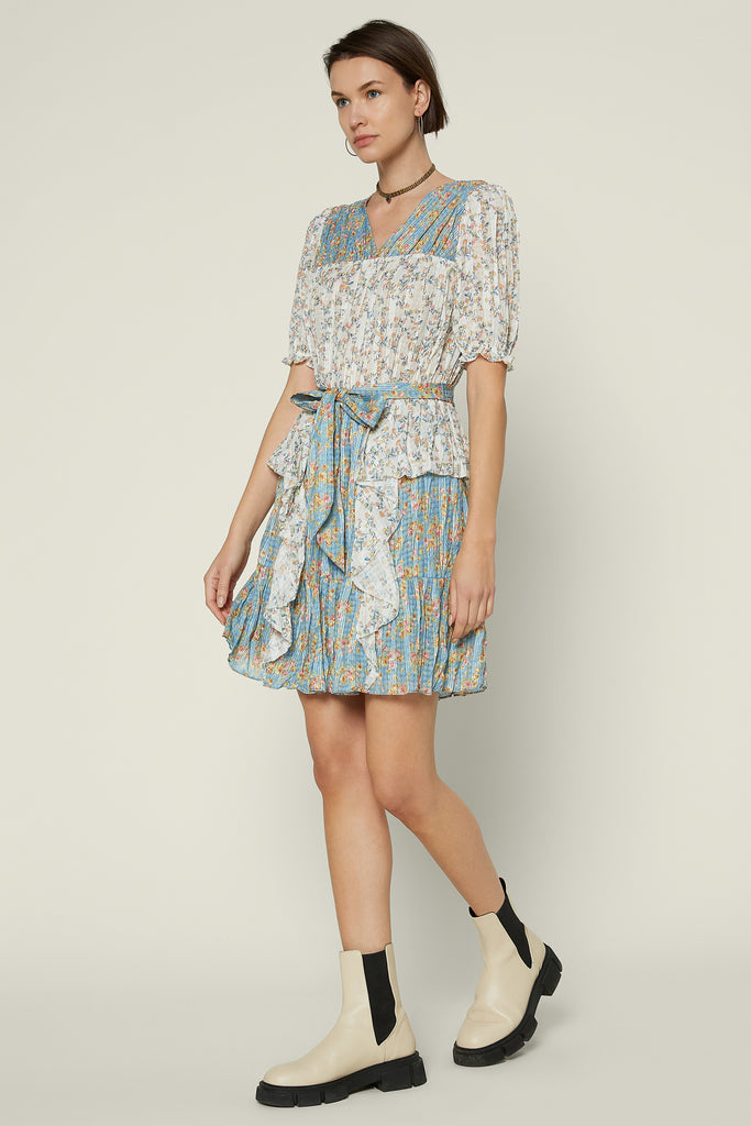 ruffle ditsy floral dress
