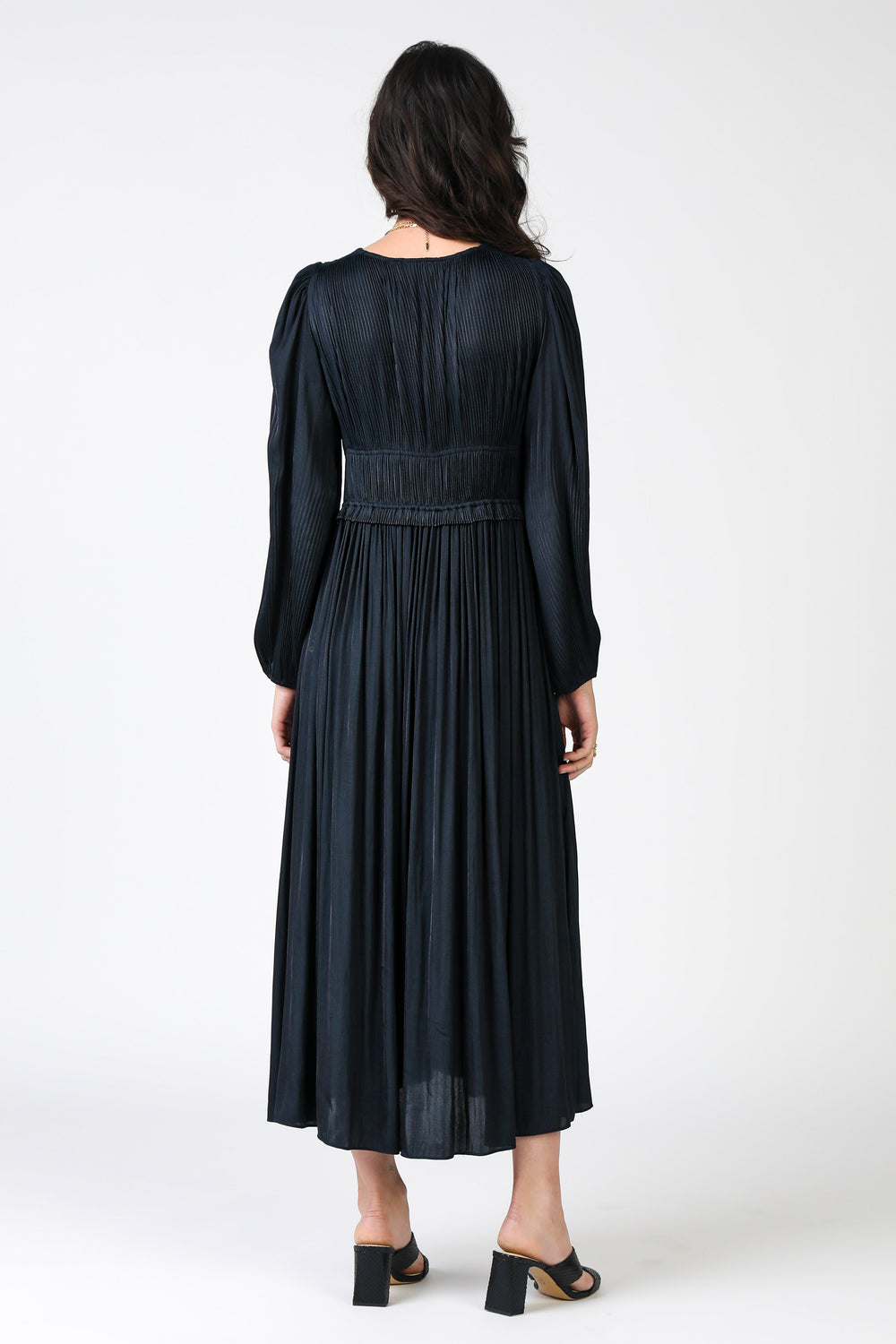 Pleated Top Long Dress