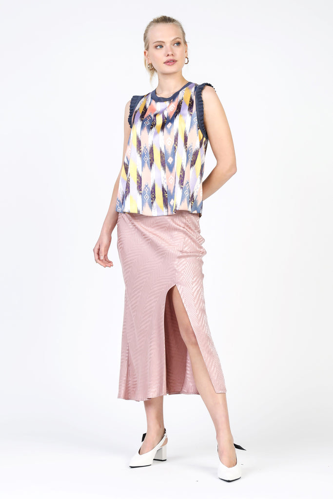 Geometric Sleeveless Top