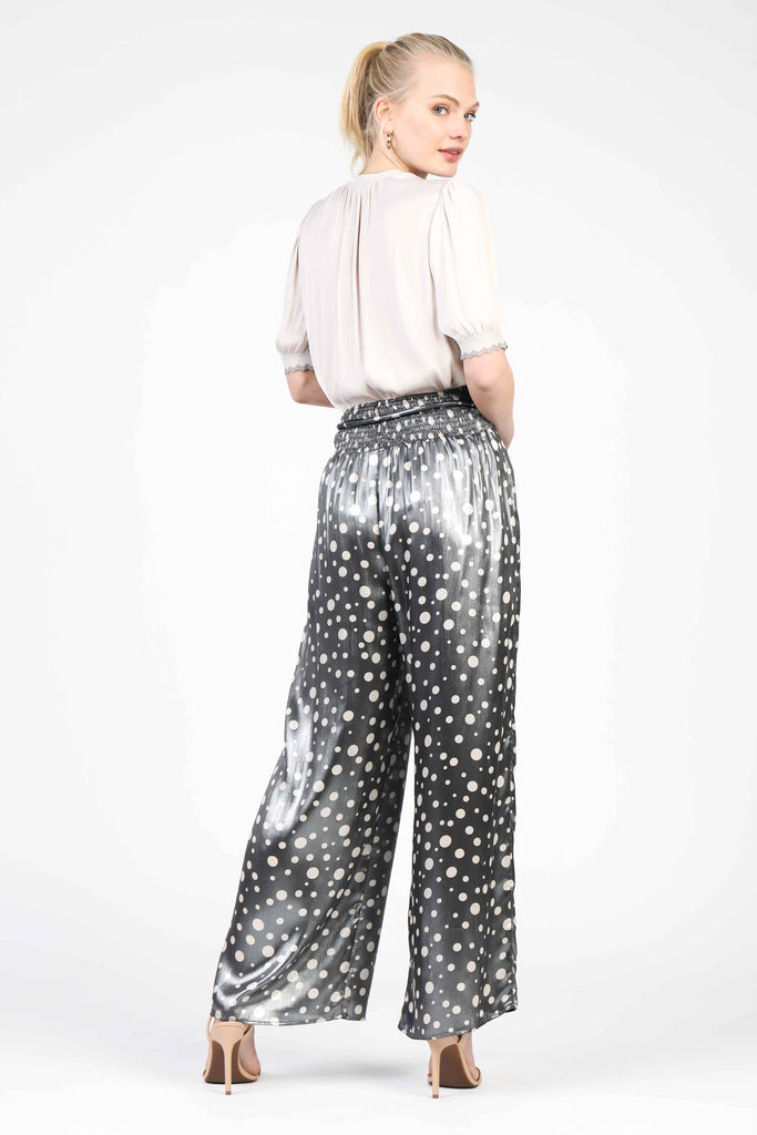 Metallic Polka Dot Pants