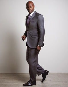 LUXE Faille Steel Gray Tux