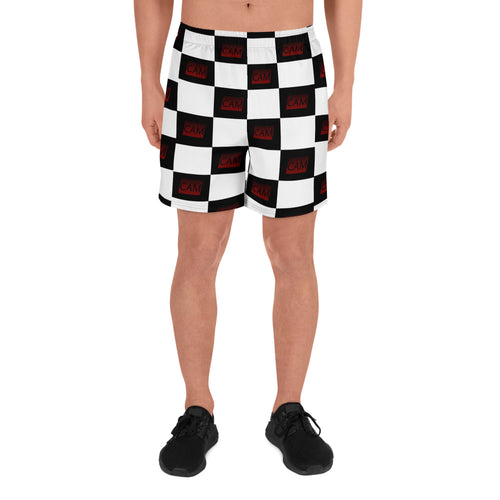 CAM Checkered Men's Athletic Long Shorts