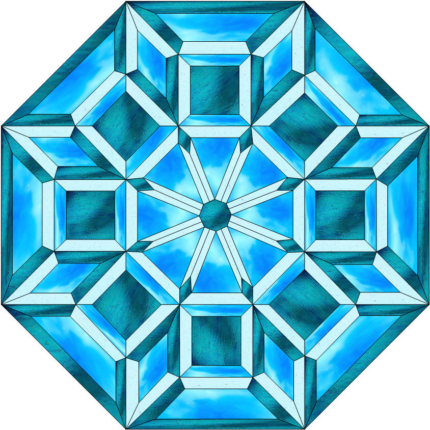 Geometric Octagon Stained Glass Pattern – Paned Expressions Stained Glass