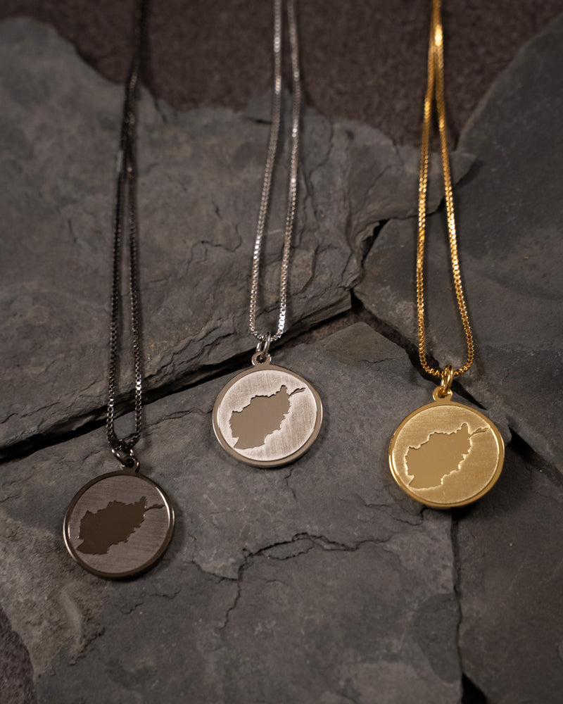 Afghanistan Coin Necklace - Silver