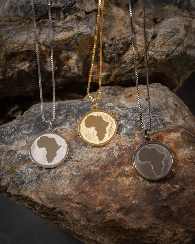 Africa Coin Necklace - Black