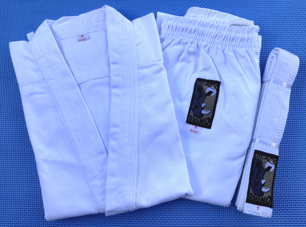 Rhino Karate Gi Uniforms - White