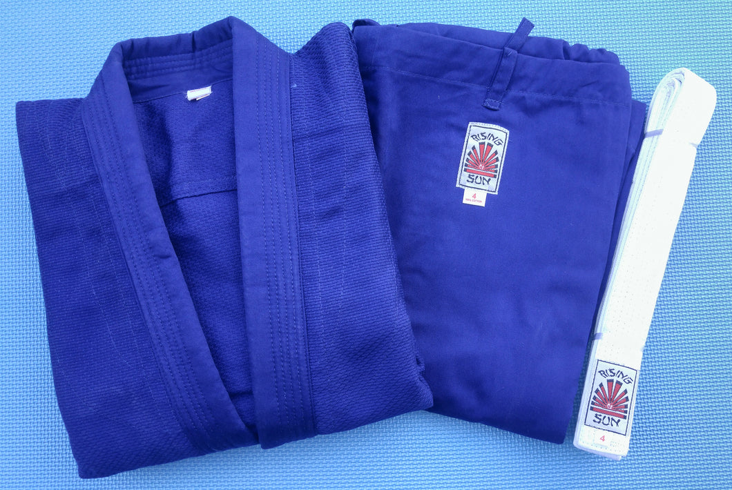 Rising Sun Judo Gi Uniforms - Blue