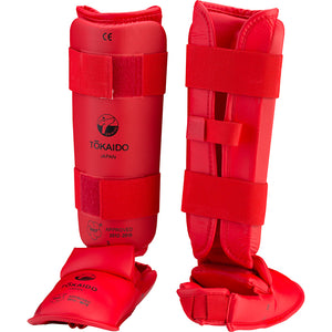 Tokaido WKF Approved Shin Instep Guards - choice red or blue