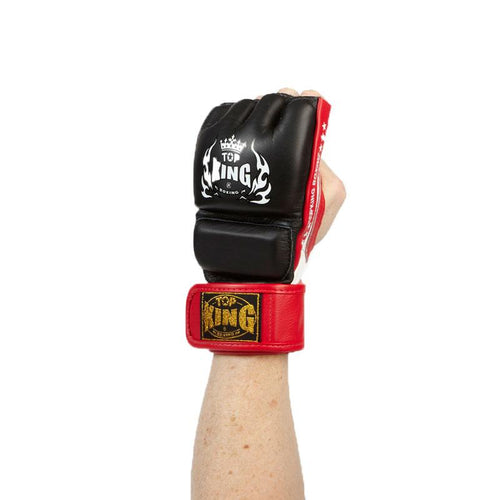 Top King MMA Leather Gloves