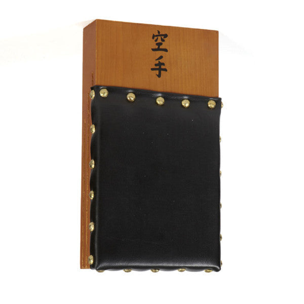 Makiwara Board Black Leather Pad - large