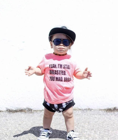 spillthebeansetc - Yeah I'm Still Breastfed You Mad Bro Toddler Tee