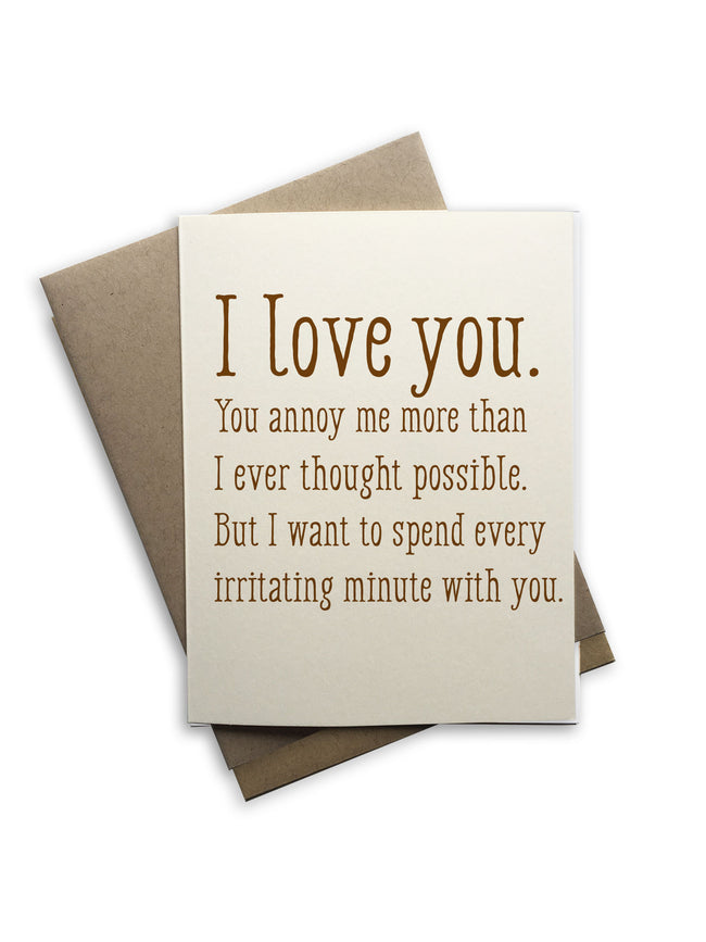 Tiramisu Paperie - I Love You Notecard