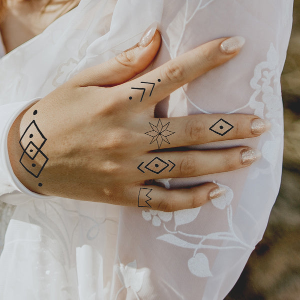 INKED by Dani - Geometric Pack - Temporary Tattoos