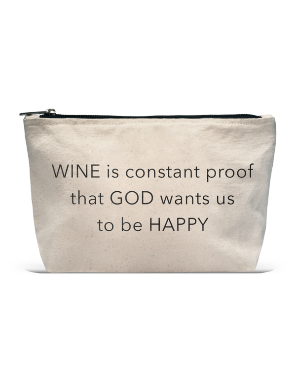 LA Trading Co - Pouch - Wine Is Constant Proof