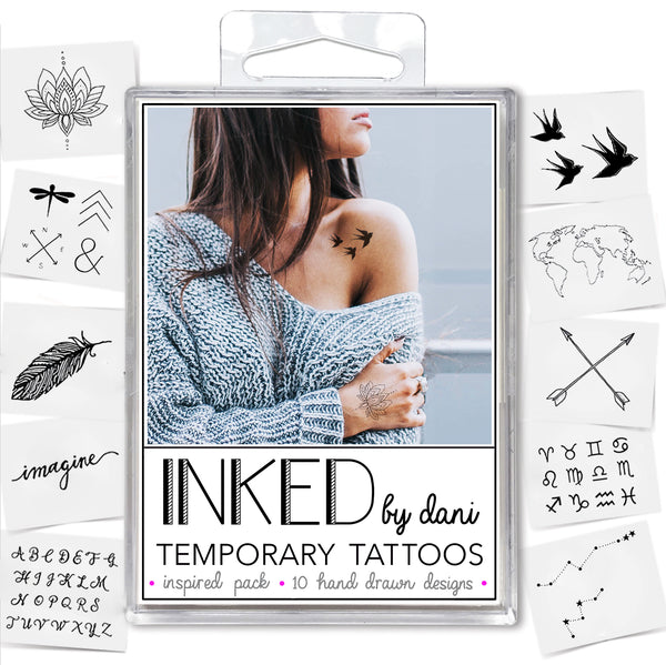 INKED by Dani - Inspired Pack - Temporary Tattoos