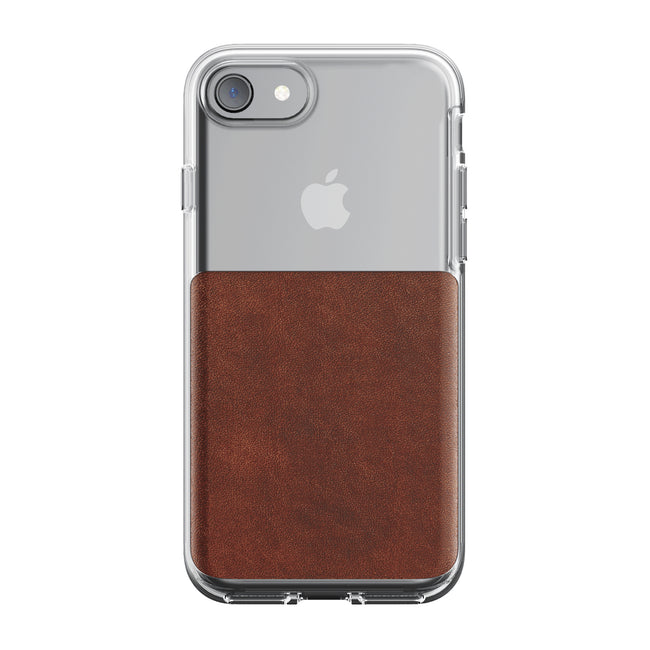 Nomad - Horween Leather Clear Case for iPhone - Rustic Brown